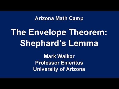 Lecture 39(C): The Envelope Theorem: Shephard's Lemma
