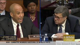 Cory Booker Questions William Barr, Nominee for Attorney General