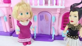 Küçük Cadı Ve Masha Evcilik Oynuyor Eğlenceli Videolar