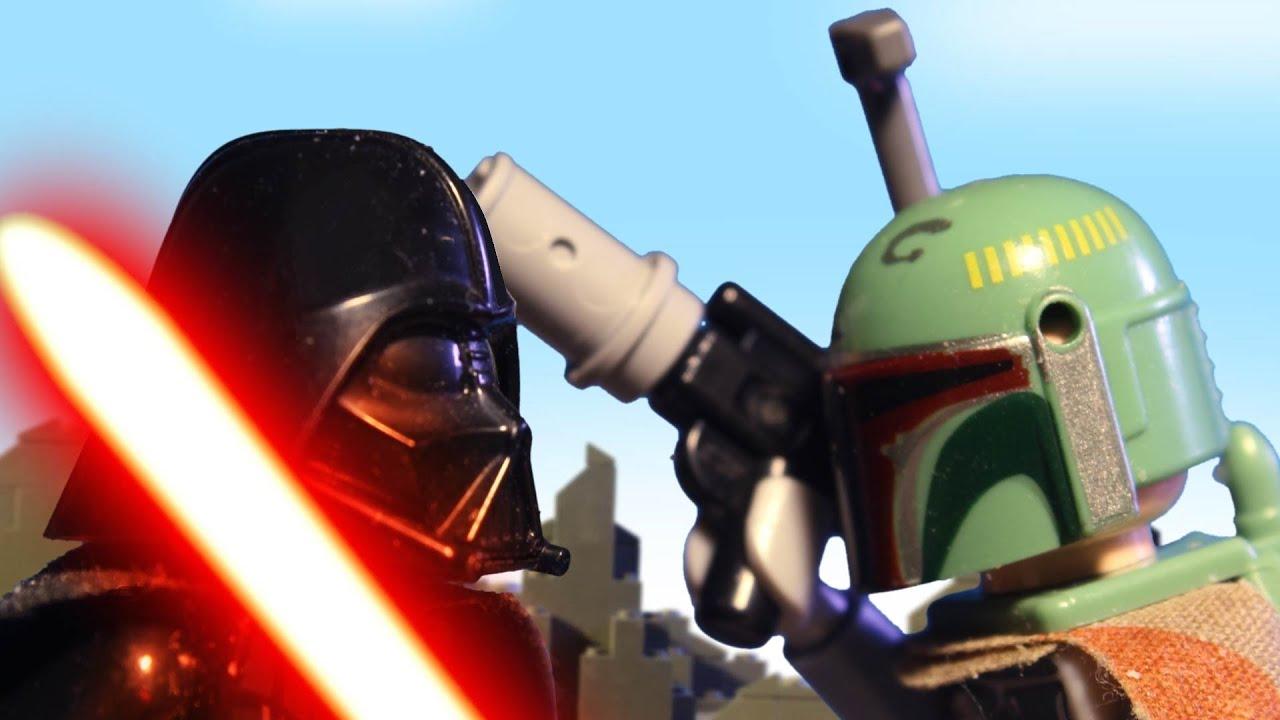 lego star wars boba fett vs darth vader epic duel - youtube