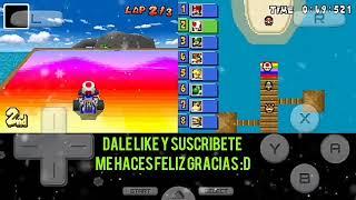 Jugando Mario kart de la 64 en móvil xd