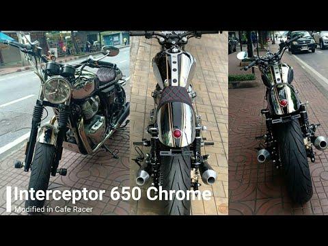 Interceptor 650 Chrome Cafe Racer   Modified Interceptor 650 in Cafe Racer