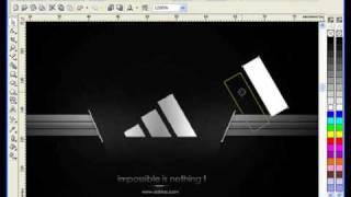 Лучшие Видеоуроки Corel DRAW X3. Урок № 40. Часть 2(За основу этого видеоурока возьмём фирменный стиль компании Adidas (файл в растровом формате) и повторим его..., 2009-06-25T06:53:20.000Z)