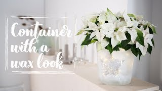 Easy winter DIY: Container with a coat of wax for a poinsettia