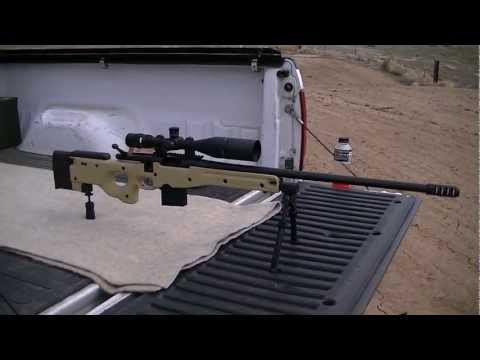 .308 Remington 700 ~ 1012 yard shot at a gallon of milk