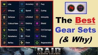 The *BEST* ~Gear Sets~ in Raid Shadow Legends (Each Set Explained)