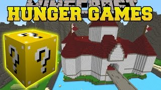 minecraft princess peach castle hunger games lucky block mod modded mini game