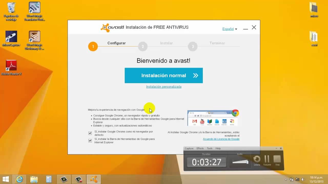 descargar avast free para instalar sin internet
