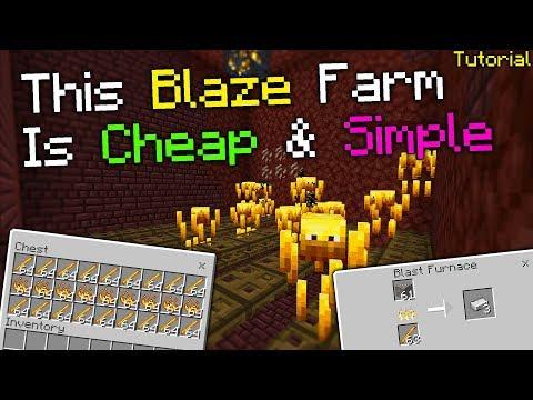 Super Simple Blaze Farm Tutorial(no redstone required)