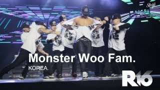 Insane Krumping Showcase - Monster Woo Fam | STRIFE. | R16 Korea 2013