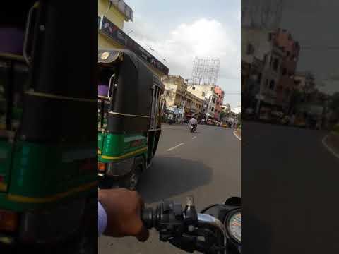 Vijayawada Besant Road To Eluru Road Innotel Hotel, Vijayawada Tourism Street View Driving By Byke