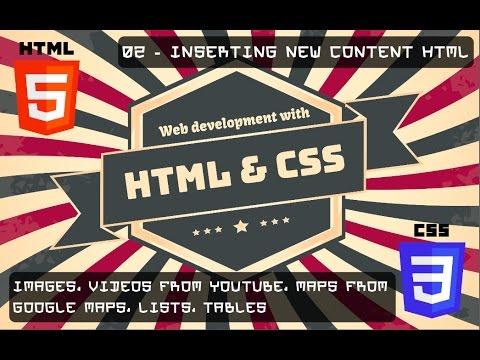 HTML / CSS Tutorials - 6e - INITE - 02 - Inserting Content Into HTML