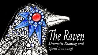The Raven Spoken Poem with Fantasy Doodlegems Speed Drawing