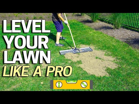 How to Level Your Lawn Like a Pro - Tool for Sand Soil Or Peat Top Dressing