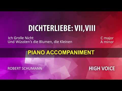 Dichterliebe: 7; 8 / Schumann: Karaoke + Score guide / High voice
