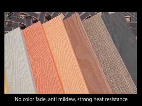 Anti Slip Wood Plastic Composite Solid WPC Decking Flooring