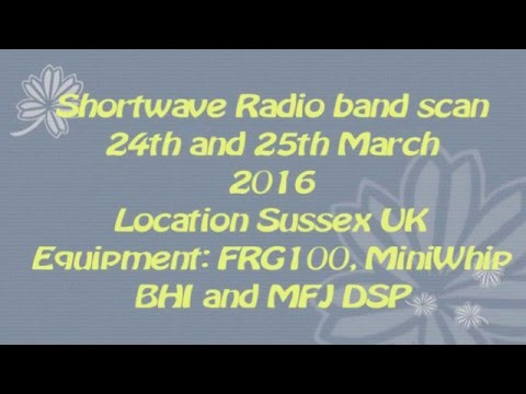 Shortwave radio band scan 2016
