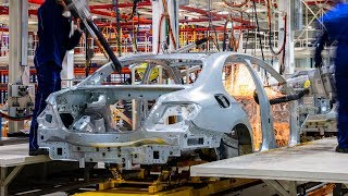 Production Mercedes E-class W213 in the plant Daimler AG in the Moscow region