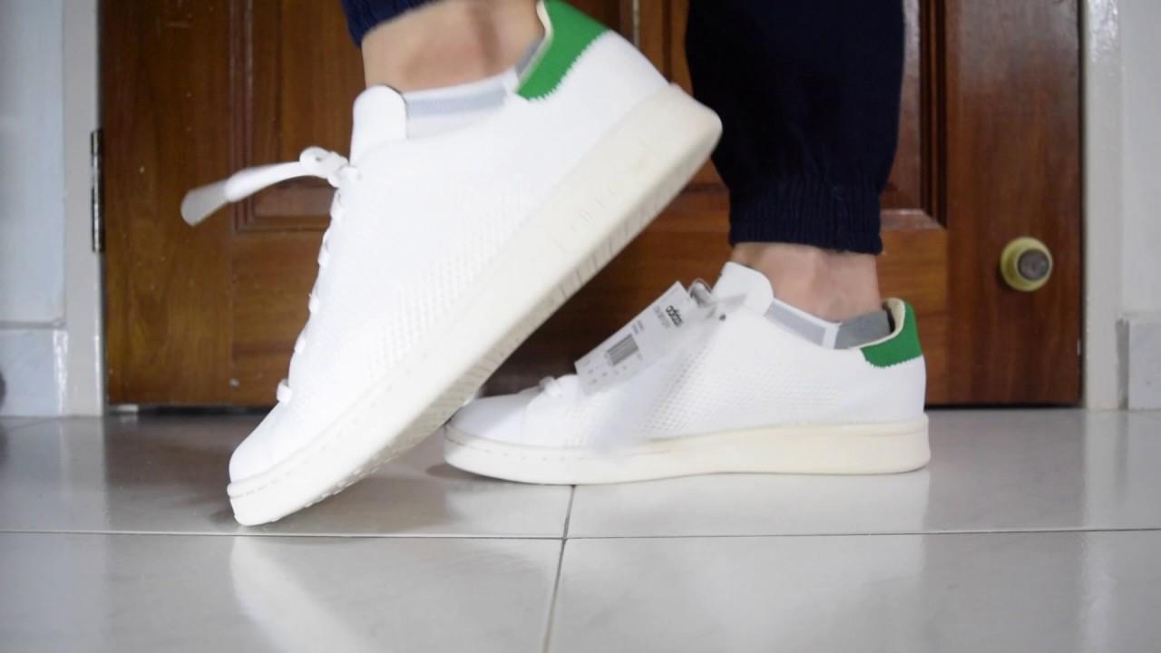 Adidas Stan Smith Og Pk (Bianco / Verde / Gesso Bianco) In Piedi Su Youtube