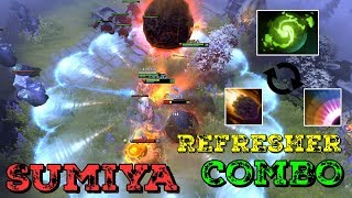 Sumiya Invoker Ultra Combo Refresher with Meteor + Blast Dota 2 Highlight