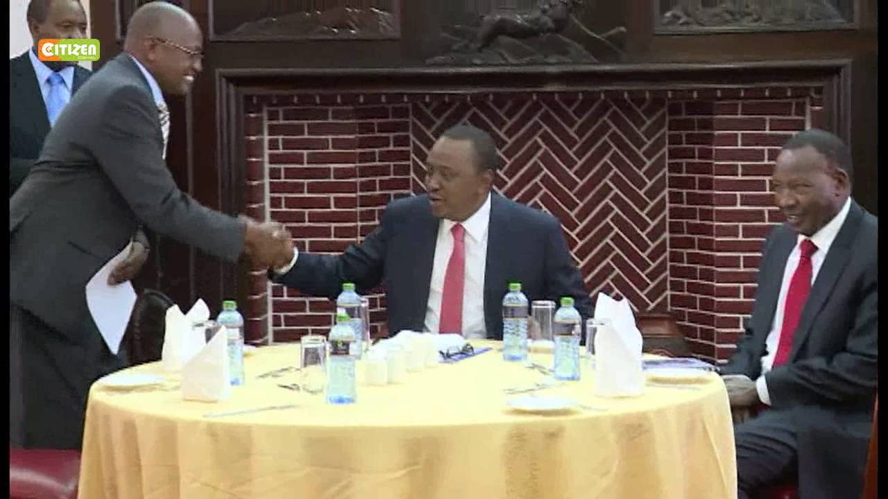 Leaders from Maasai community meet President Kenyatta at State House, Nairobi