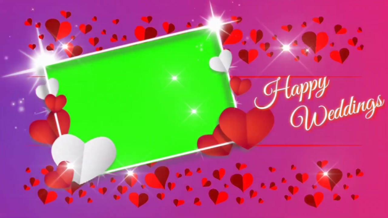 Green Screen Wedding Album Frame Wedding Anniversary Background Star Effect Hd Youtube