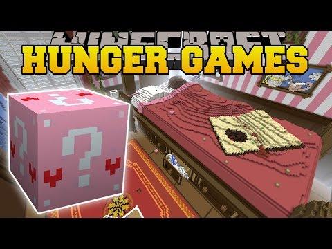 Minecraft: ALICE IN WONDERLAND HUNGER GAMES - Lucky Block Mod - Modded Mini-Game