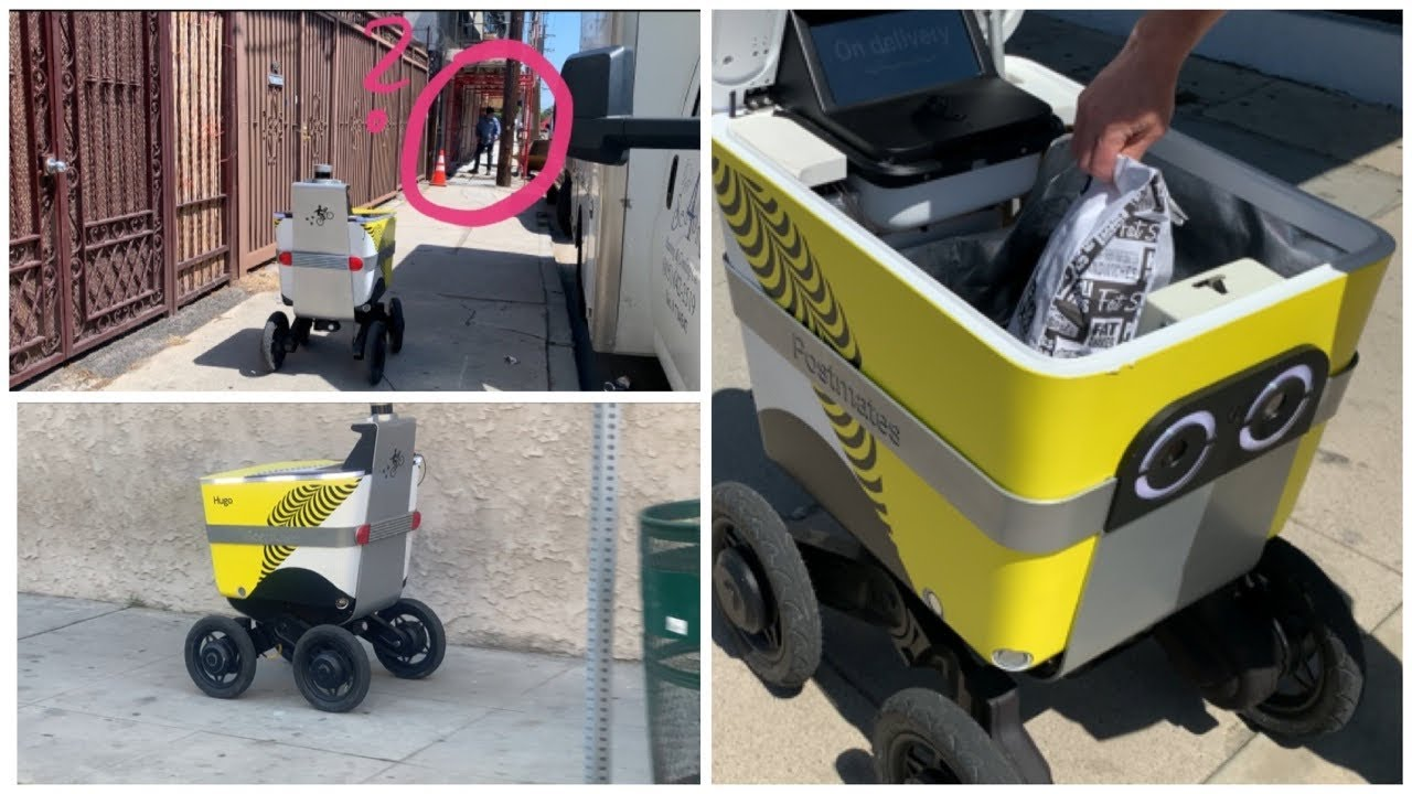 First ROBOT FOOD DELIVERY (Fully Autonomous Pickup at Restaurant & Delivery to Customer)