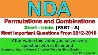 Permutations & Combinations - Class 11   Puneet Dogra