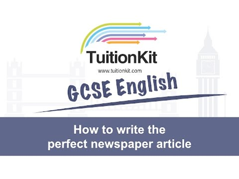 How to write the perfect newspaper article