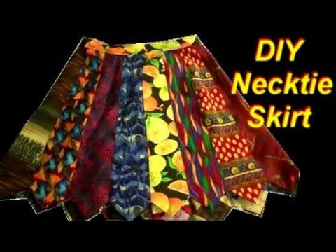 Easy Diy Necktie Skirt Youtube