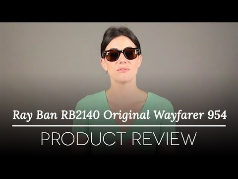 classic wayfarer 54mm sunglasses  Ray-Ban RB2140 Original Wayfarer 954 Sunglasses Review - YouTube