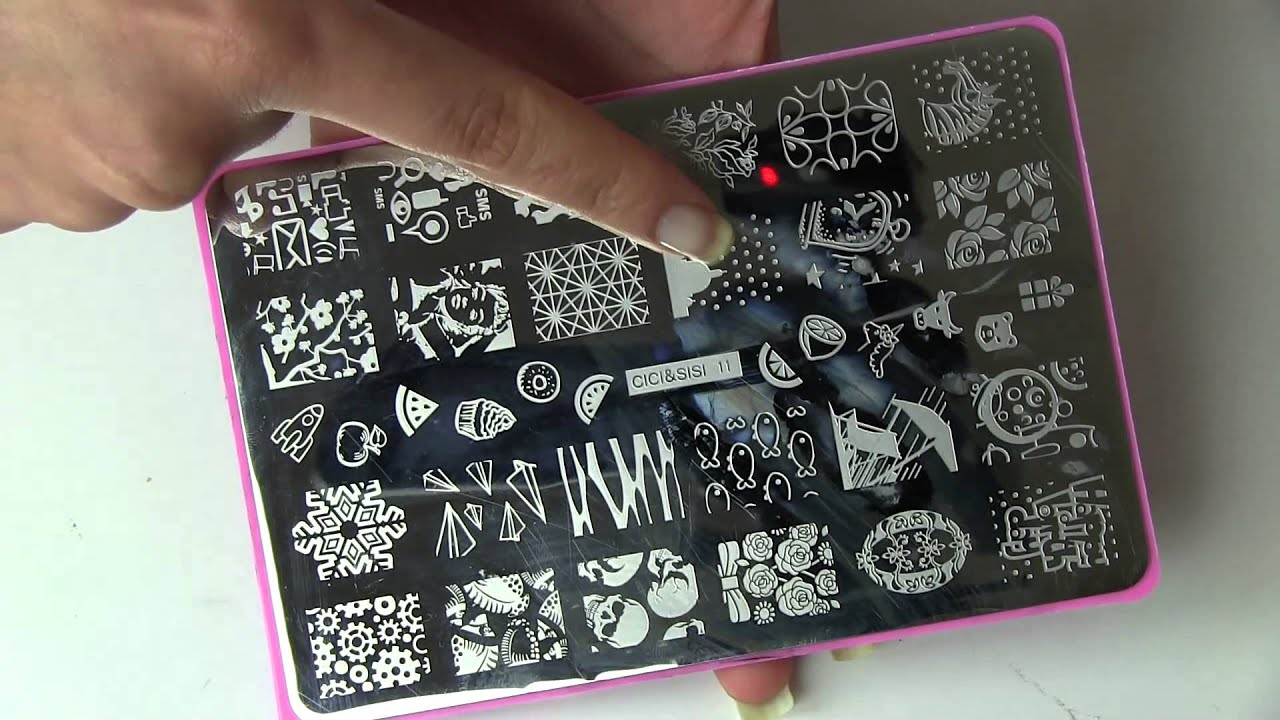 Cicisisi Nail Art Stamping Plates Swatches Moyou Sailor Collection