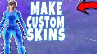 How to Make Custom Fortnite Skins(Use in Game)