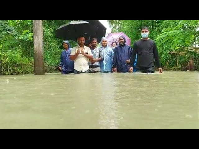 Minister Sanjay Kishan braves waist-deep water in Tinsukia to take stock of floods
