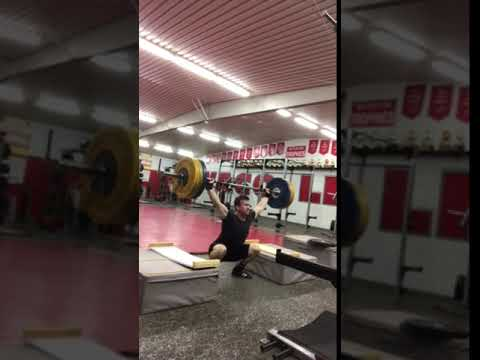 225 lbs high block Clean and Snatch PR