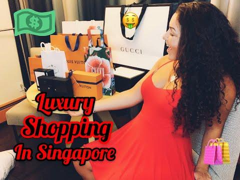 LUXURY SHOPPING IN SINGAPORE | Shopping haul | Louis Vuitton | Gucci | Prada