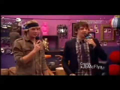 Dougie and Danny singing karaoke!
