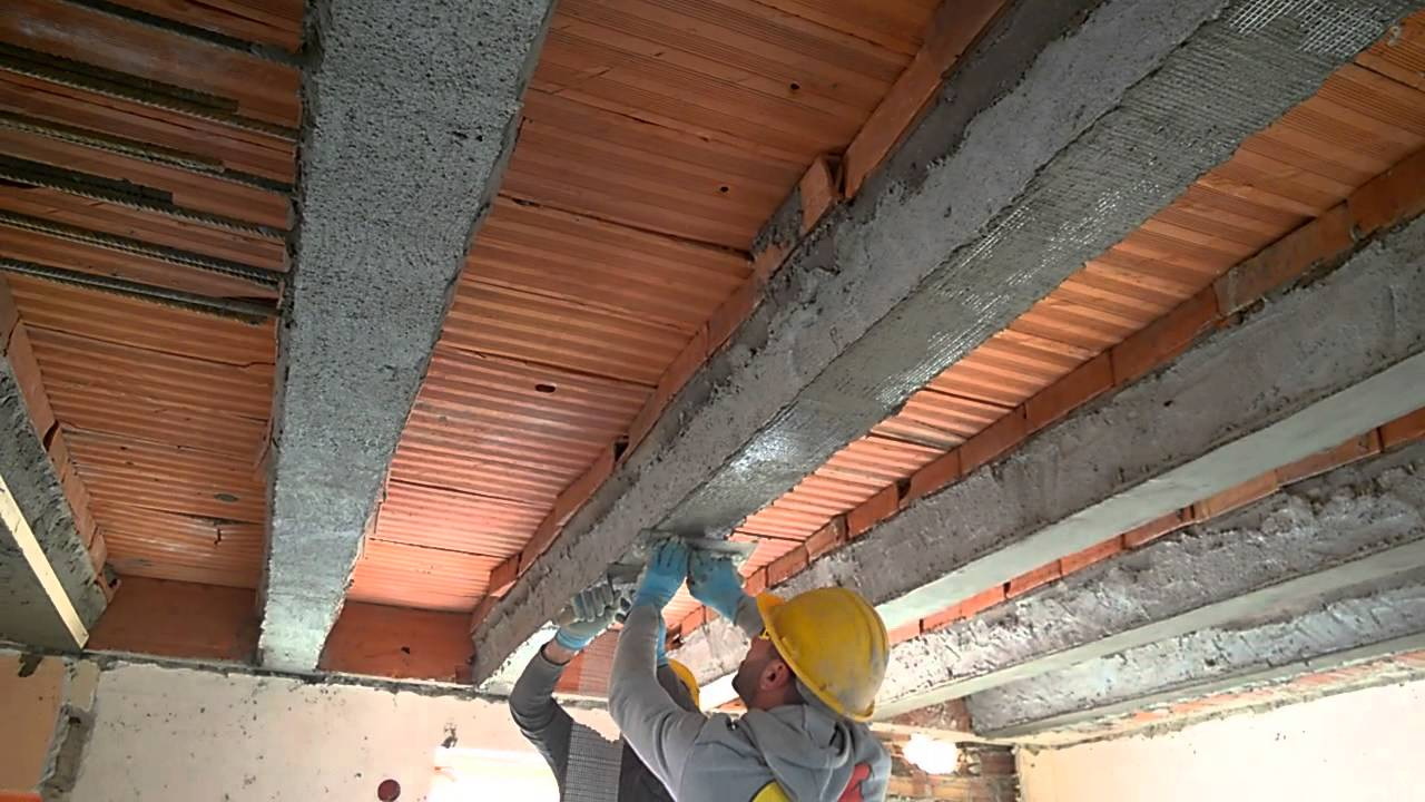 Ripristino Solaio Latero Cemento ricostruzione travetti con fibra di acciaio - youtube