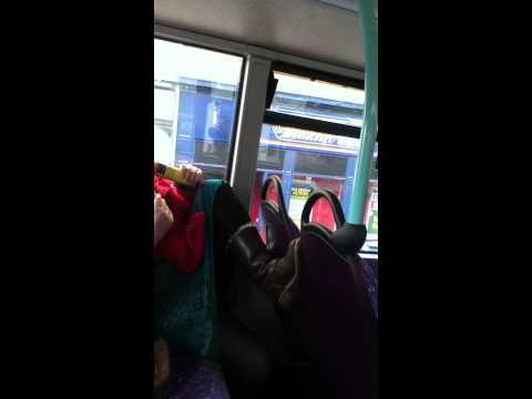 Woman buzzing Gas on Glasgow Bus part 1