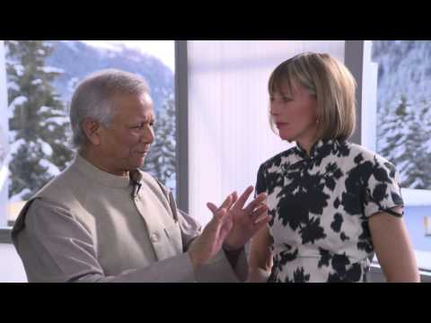 Davos 2016 Hub Culture Interview w Prof Muhammad Yunus, Nobel Laureate