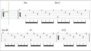 Scorpions - Holiday Guitar Solo Tab+backingtrack
