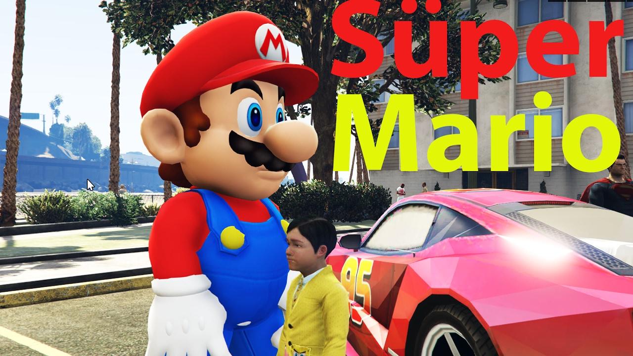 Örümcek  Adam Şimşek Mcqueen, Afacan Çocuk Mario ile Yarış Süper kahramanlar