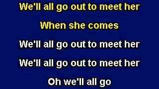 She'll Be Coming Round the Mountain, Karaoke video with lyrics, Instrumental Version