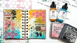 Playing in my Mini Art Journal (Fun!)