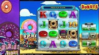 DONUTS: une machine à sous à 4 rouleaux et 4 lignes de paiement, avec joker et bonus.