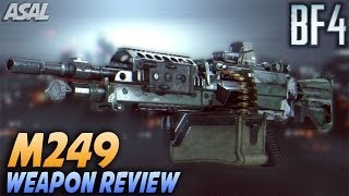 M249 Weapon Review - The Fastest Firing LMG (Battlefield 4 Commentary/Gameplay)