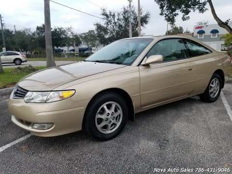FOR SALE 2002 Toyota Camry Solara SE 2 Door Coupe