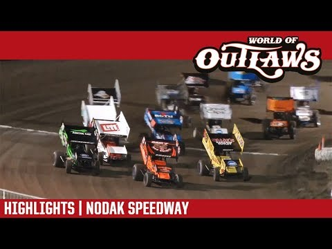 World of Outlaws Craftsman Sprint Cars Nodak Speedway August 20, 2017   HIGHLIGHTS