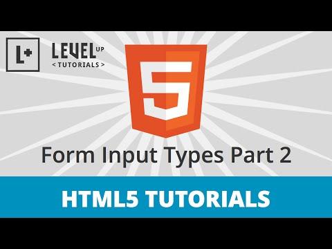 HTML5 Tutorials #10 - Form Input Types Part 2